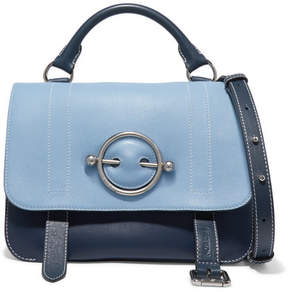 J.W.Anderson Disc Two-tone Leather Shoulder Bag - Sky blue