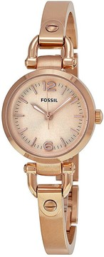 Fossil Georgia Rose Dial Rose Gold-tone Ladies Watch