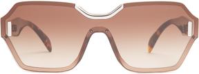 PRADA EYEWEAR Rectangle-frame acetate sunglasses