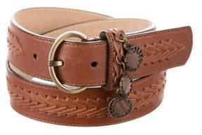 Oscar de la Renta Woven Leather Belt