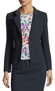 Emporio Armani Notched-Lapel One-Button Wool Jacket