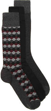 Cole Haan Diamond Dress Socks - 3 Pack - Men's