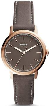 Fossil Women's Neely Grey Leather Band Watch ES4339