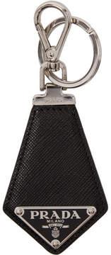 Prada Black Small Leather Keychain