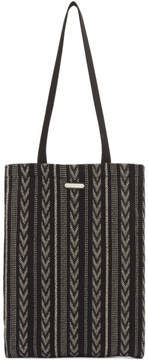 Saint Laurent Black Ikat Tote