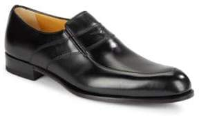 a. testoni Lux Leather Slip-On Shoe
