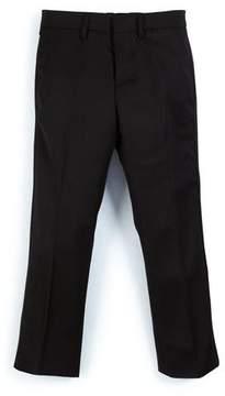 Burberry Wool Slim-Fit Tuxedo Pants, Black, Size 4-14