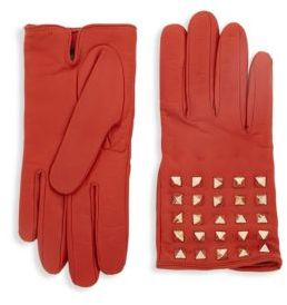 RED Valentino Pyramid Leather Gloves