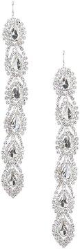 Cezanne Rhinestone Linear Drop Statement Earrings