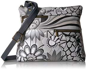Anuschka Anna by Hand Painted Leather Large Crossbody