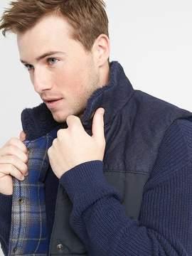 Gap Denim-yoke puffer vest