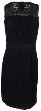 Calvin Klein Women's Crochet Trim Sheath Dress