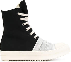 Rick Owens hi-top lace up sneakers