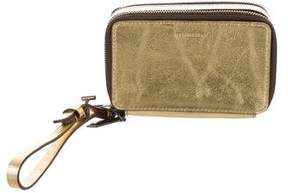 Reed Krakoff Metallic Double-Zip Wristlet