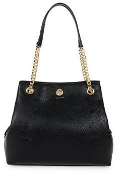 Anne Klein Chain Toggle Leather Tote
