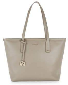 Furla Top Zip Leather Tote