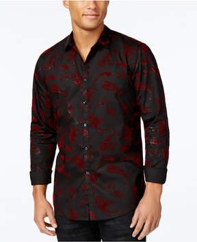 INC International Concepts Men's Velvet Paisley Shirt, Created for Macy's