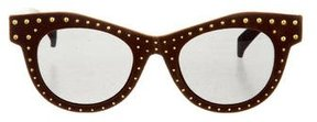 Italia Independent Studded Cat-Eye Sunglasses w/ Tags