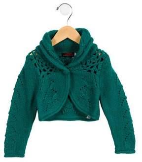 Catimini Girls' Knit Shawl Collar Cardigan