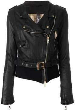 Giorgio Brato creased biker jacket