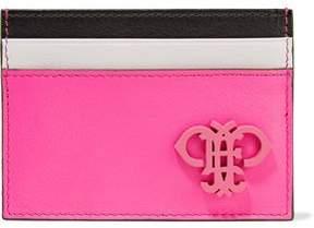 Emilio Pucci Color-Block Leather Cardholder