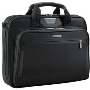 Briggs & Riley 'Medium Slim' Ballistic Nylon Briefcase - Black