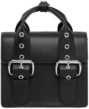 Vivienne Westwood Alex Two Tone Leather Bag With Buckles