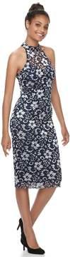 Almost Famous Juniors' Lace Mock Neck Bodycon Dress