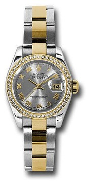 Rolex Lady Datejust Rhodium Dial Steel and 18k Yellow Gold Automatic Watch