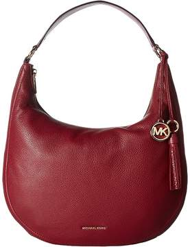 MICHAEL Michael Kors Lydia Large Hobo Hobo Handbags - ACORN - STYLE