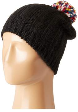 Hat Attack Rib Slouchy with Confetti Pom Knit Hats