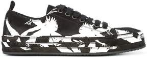 Ann Demeulemeester contrast print low-top sneakers
