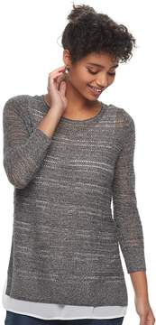Apt. 9 Women's Layered Pointelle Sweater