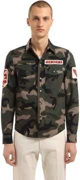 Military Patches Camo Gabardine Shirt