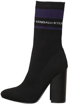 KENDALL + KYLIE 100mm Hailey Logo Knit Sock Ankle Boots