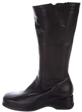 La Canadienne Leather Square-Toe Boots