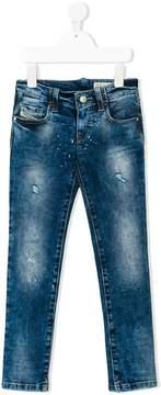Diesel splash print jeans