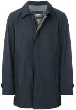 Herno Men's Blue Polyester Coat.