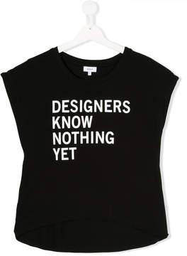 DKNY Designer Know Nothing Yet print T-shirt
