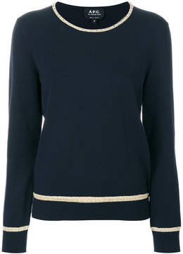A.P.C. contrast rand sweater