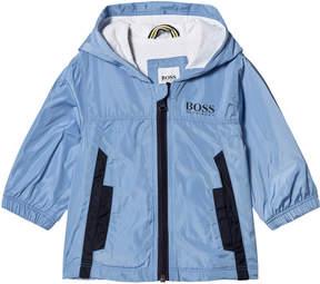 BOSS Pale Blue Branded Jersey Windbreaker
