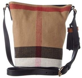 Burberry Ashby Small Canvas Check & Leather Bucket Bag. - MULTIPLE COLORS - STYLE