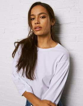 American Eagle Outfitters Don't Ask Why Pleat-Sleeve T-Shirt