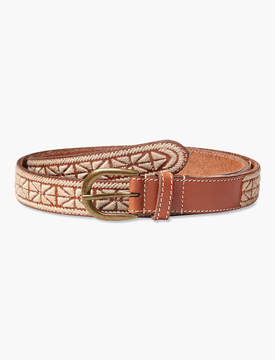 Lucky Brand TEXTURED EMBROIDERY BELT