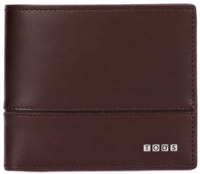 Tod's Metal Letters Brushed Leather Wallet