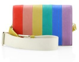 Alice + Olivia Rainbow Goatskin Convertible Clutch