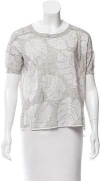White + Warren Oversize Short Sleeve Top