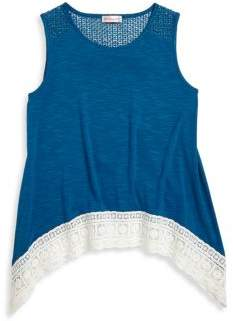 Design History Little Girl's & Girl's Lace Tank Top