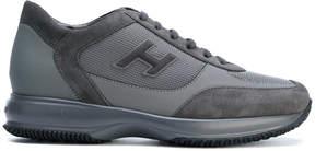 Hogan panelled branded sneakers