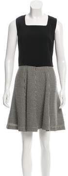 Andrew Gn Houndstooth A-Line Dress